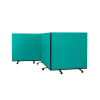 3 panel mobile office screens - 1200mm high - Green