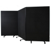 3 panel mobile office screens - 1800mm high
