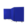 3 panel mobile office screens - 1800mm high - Blue
