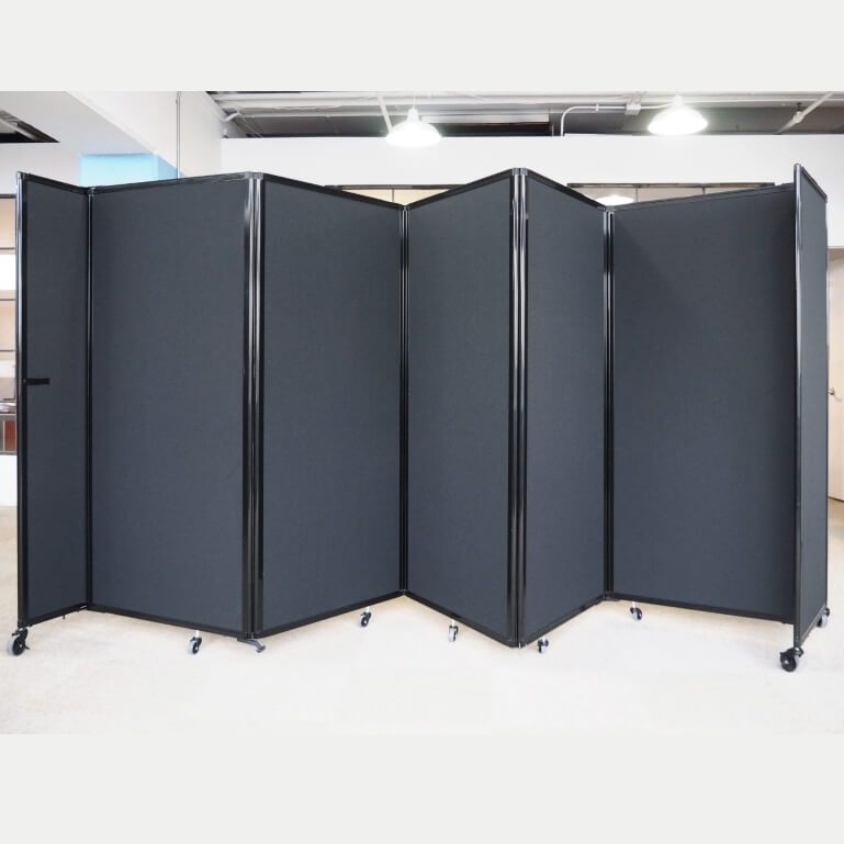 5 Panel Acoustic 360 Folding Room Dividers Access Displays