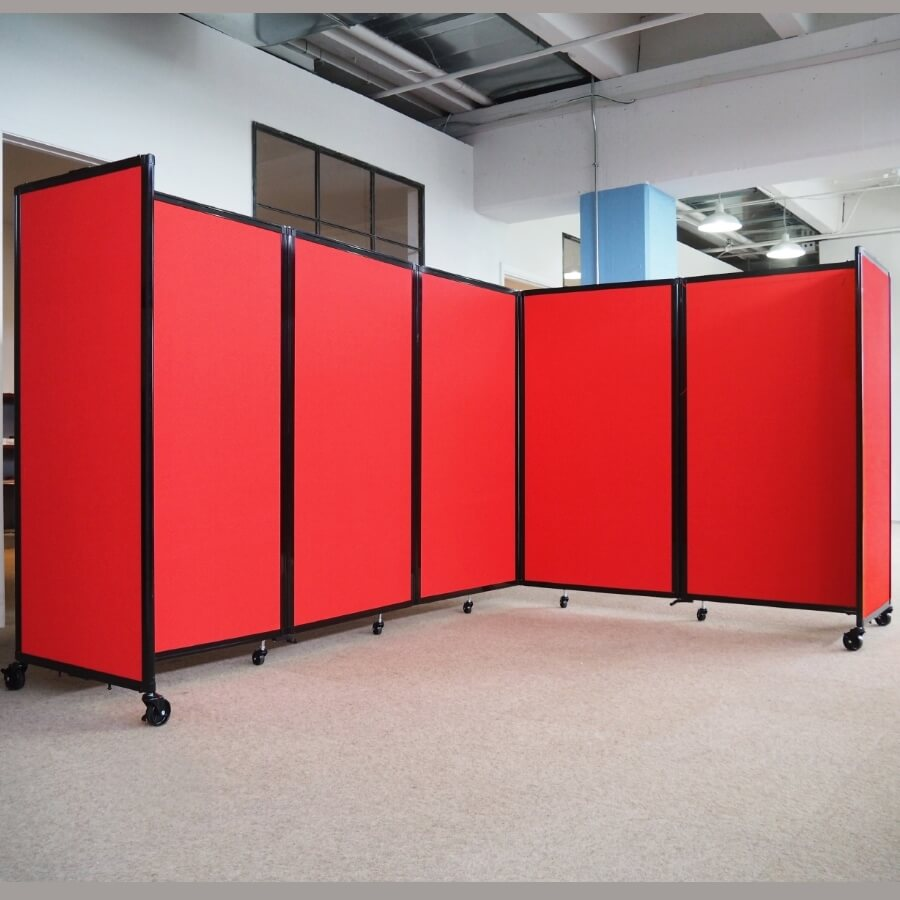 5 Panel Acoustic Room Dividers Access Displays