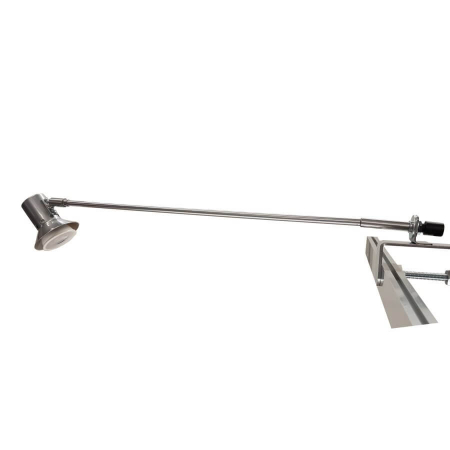 Atlas LED display light with straight arm and G clamp fitting