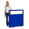 1200 (w) X 1200 (h) glazed office screen - Blue
