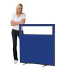 1200 (w) x 1200 (h) glazed office screen - Blue Woolmix