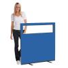 1200 (w) X 1200 (h) glazed office screen - Blueberry