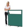 1200 (w) x 1200 (h) glazed office screen - Green Woolmix