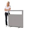 1200 (w) x 1200 (h) glazed office screen - Grey Woolmix