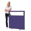 1200 (w) x 1200 (h) glazed office screen - Violet Woolmix