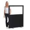 1200 (w) X 1500 (h) glazed office screen - Black
