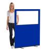 1200 (w) X 1500 (h) glazed office screen - Blue