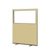 1200 (w) x 1500 (h) glazed office screen - Beige Woolmix