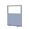 1200 (w) x 1500 (h) glazed office screen - Crystal Woolmix