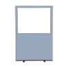 1200 (w) x 1800 (h) glazed office screen - Crystal Woolmix