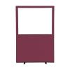 1200 (w) x 1800 (h) glazed office screen - Merlot Woolmix