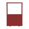 1200 (w) x 1800 (h) glazed office screen - Ruby Woolmix