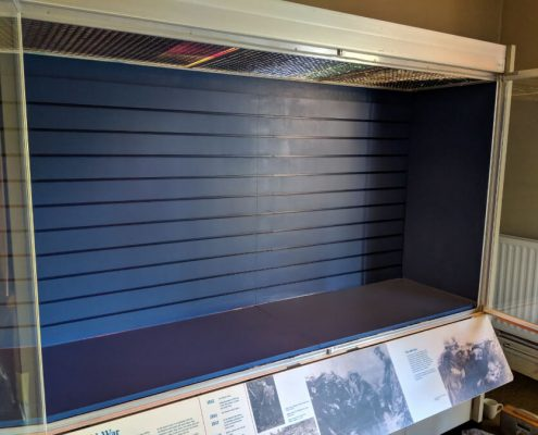 The Rifles Museum Display Case - After refurbishment