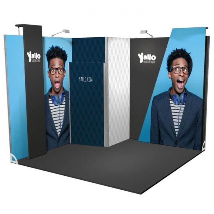 3m x 3m Vector exhibition stand