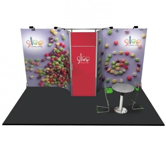 5m x 3m Linear exhibition stand