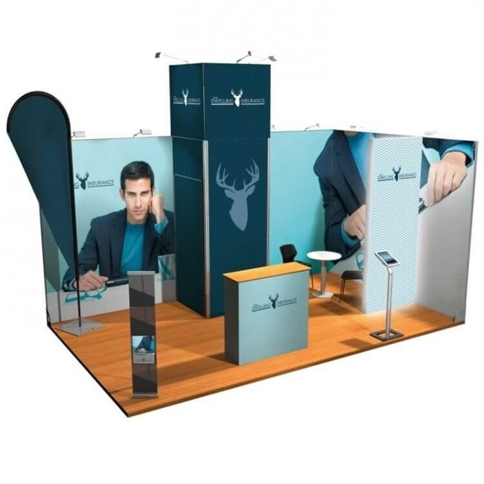 5m x 3m Vector exhibition stand