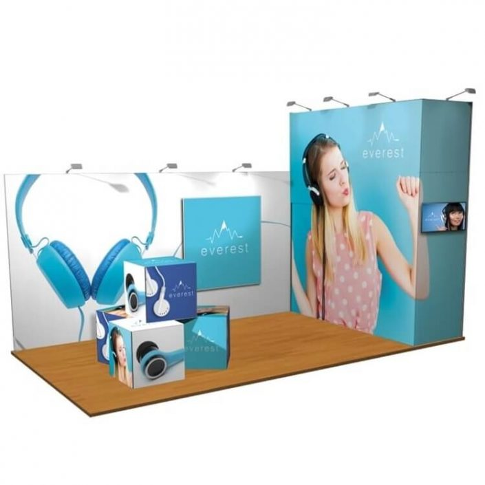 6m x 3m Custom vector exhibition stand