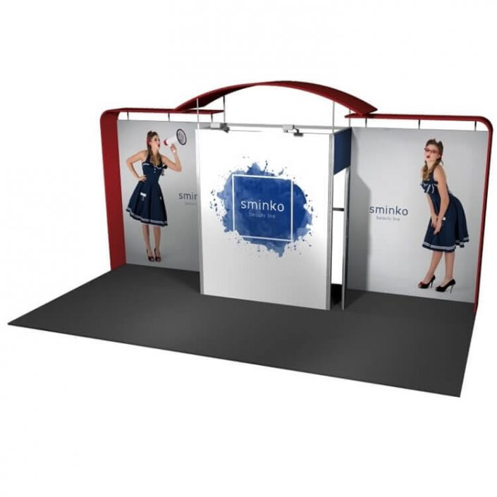 6m x 3m Vector exhibition stand 2