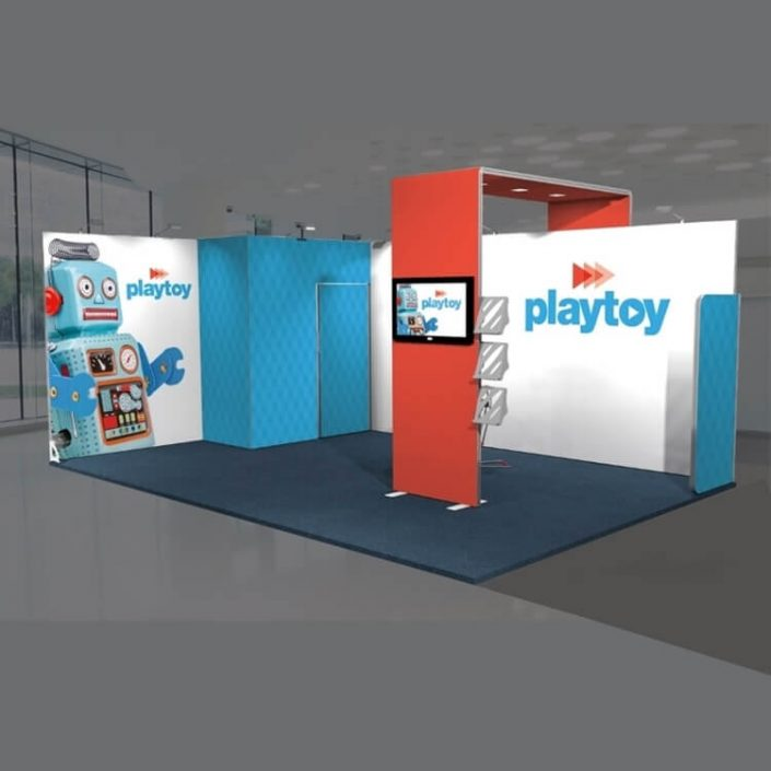 6m x 4m Custom Vector exhibition stand