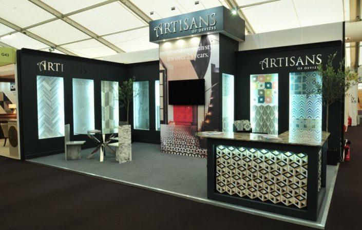 7.5m x 4m exhibition stand at Decorex