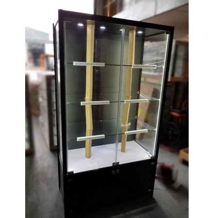 1000mm (w) Glass Display Cabinet With Storage U2013 LED Strip Lights U2013 BFWC 1000