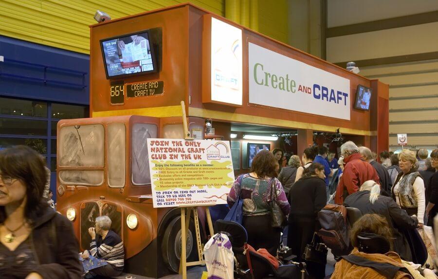 11m X 4m Double Deck Exhibition Stand At Hobbycraft Show Birmingham