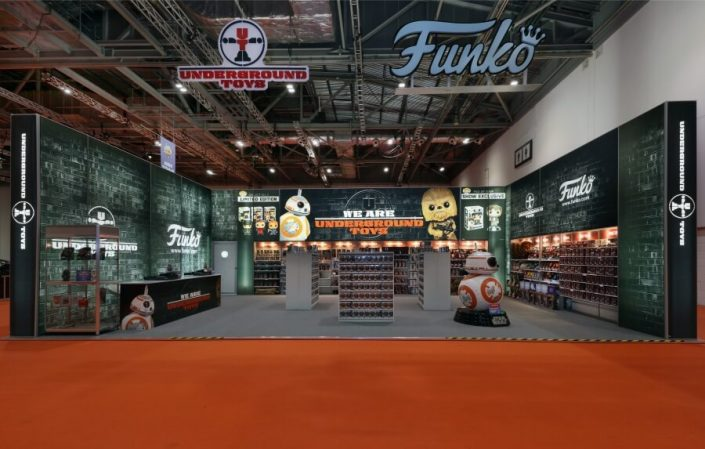 12m x 8m exhibition stand at MCM London Comic Con