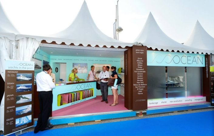 12m x 4m exhibition stand at Monaco Yacht Show