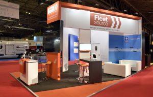 5.5m x 7m exhibition stand at CV Show - Fleet Source