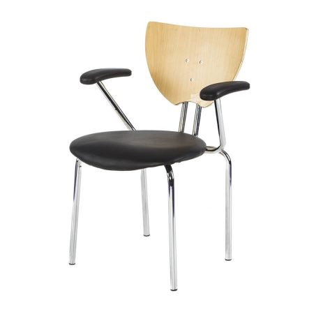 Hire Hi-Lite chair with arms in Black
