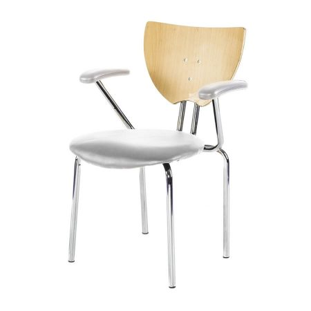 Hire Hi-Lite chair with arms in White