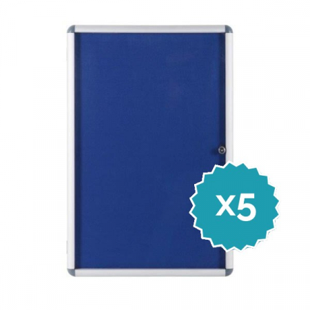 Budget lockable felt notice board