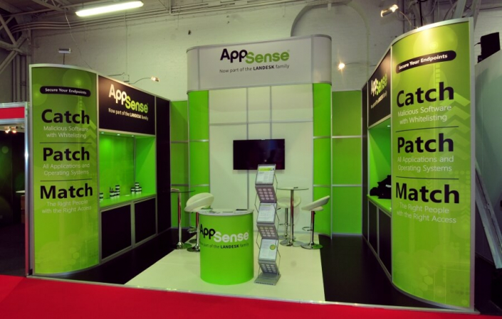 Exhibition stand hire 5.5m x 3.5m