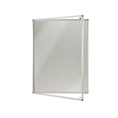 Lockable Polycolour notice board - single door - Light Grey