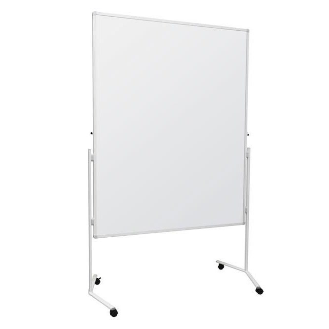 Mobile Folding Magnetic Whiteboard With Wheels Access Displays