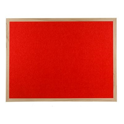 Wood framed Polycolour notice board - Red