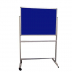 Portable felt notice board - Oxford Blue