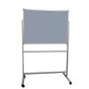 Portable felt notice board - Silver