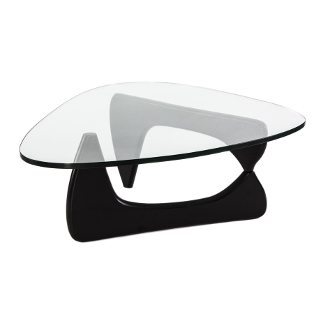 DE01 Noguchi coffee table hire - Black