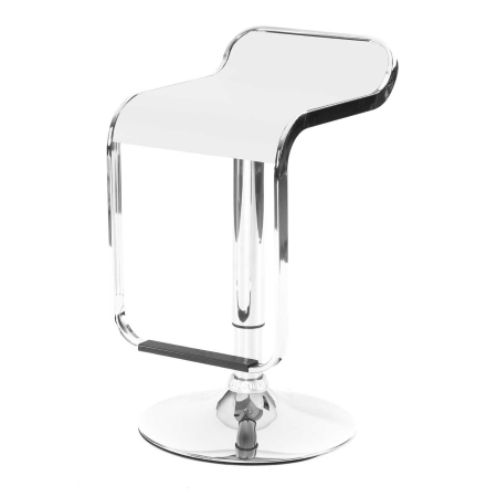 DE44 Sleek bar stool - White