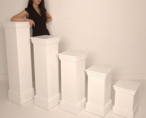 Ornate plinth hire - multiple heights