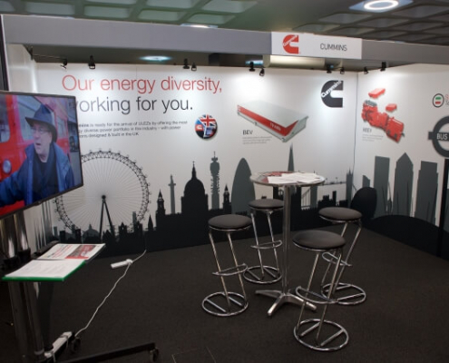 Shell scheme booth with graphics - 3