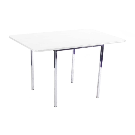 TB05 Soho large bistro table hire - White