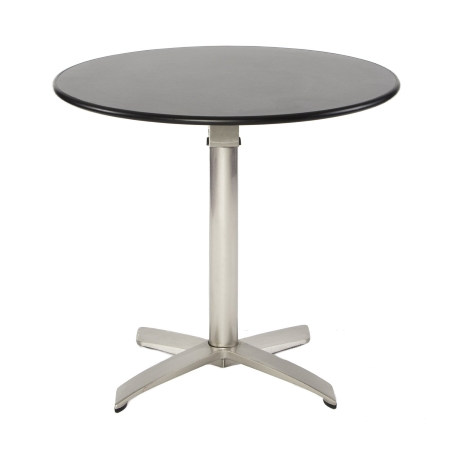 TB09 folding bistro table hire - Black