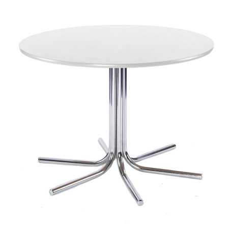TB301 Spiral round bistro table hire - White