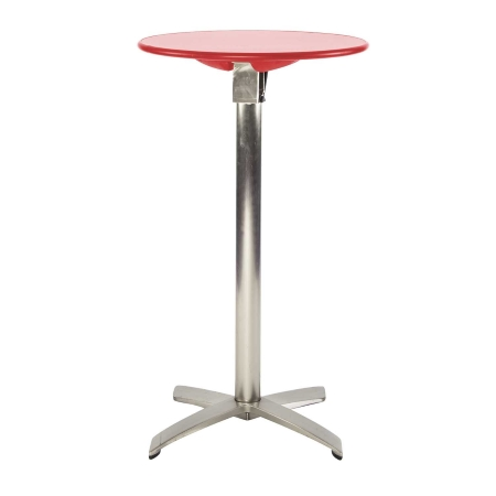 TB12 Folding bar table hire - Red