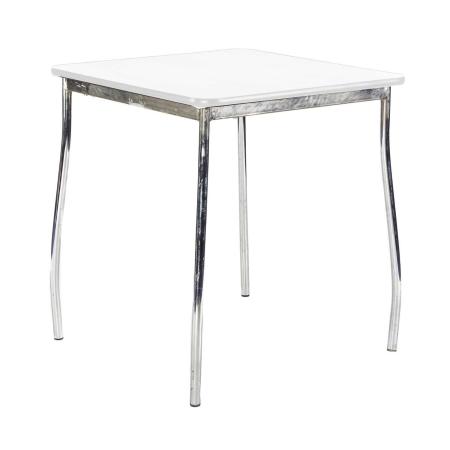 TB76 Milo bistro table hire - White
